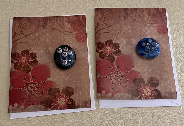 Fused Glass Flower Magnets