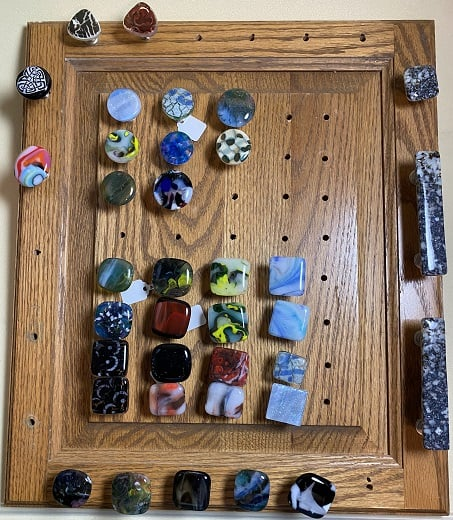 Fused Glass Door Knobs