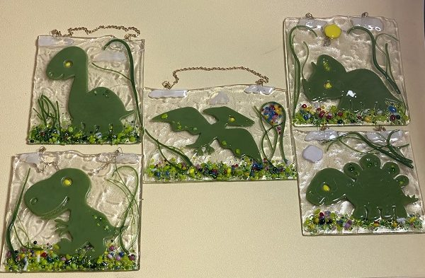 Fused Glass Dinosaurs